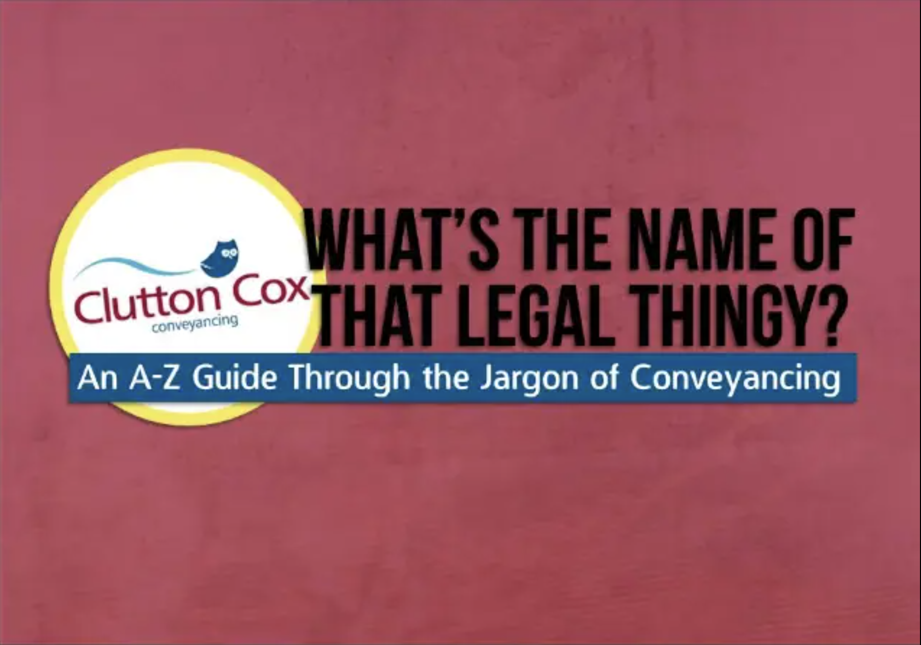 What's The Name of That Legal Thingy?